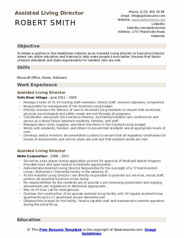 assisted living director resume samples qwikresume duties pdf verb tense whats title Resume Assisted Living Duties Resume