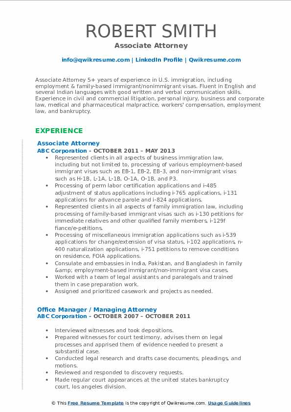 associate attorney resume samples qwikresume pdf administrative support assistant Resume Associate Attorney Resume