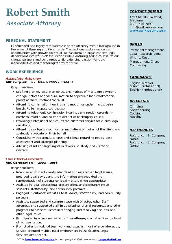 associate attorney resume samples qwikresume pdf experience professional examples current Resume Associate Attorney Resume
