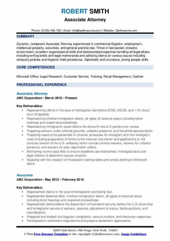 associate attorney resume samples qwikresume pdf objective examples nightclub cocktail Resume Associate Attorney Resume