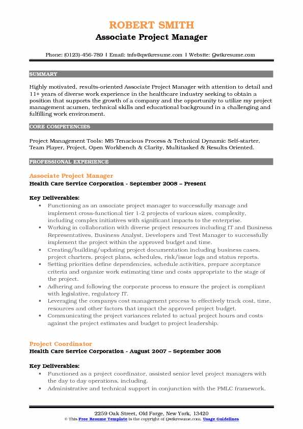 associate project manager resume samples qwikresume oriented pdf format microsoft word Resume Project Oriented Resume