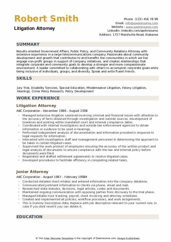 attorney resume samples qwikresume transactional pdf career objective for testing sample Resume Transactional Attorney Resume