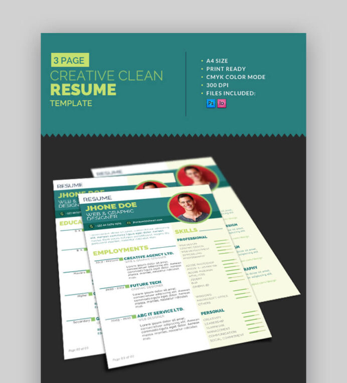 attractive eye catching resume cv templates with stylish aesthetics creative clean Resume Eye Catching Resume Templates