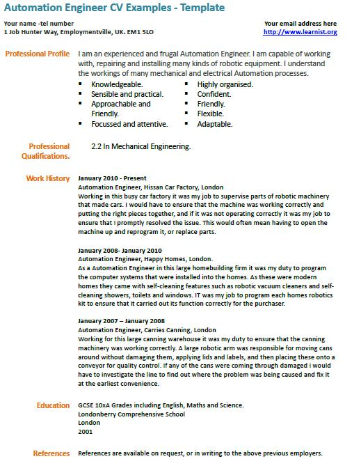 automation engineer cv template learnist org electrical resume example certification coo Resume Electrical Automation Engineer Resume