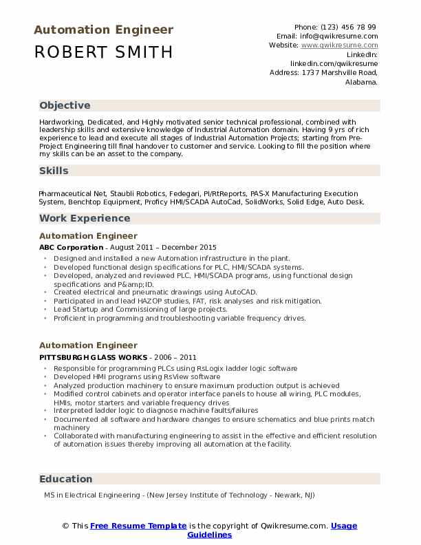automation engineer resume samples qwikresume electrical pdf study abroad on military job Resume Electrical Automation Engineer Resume