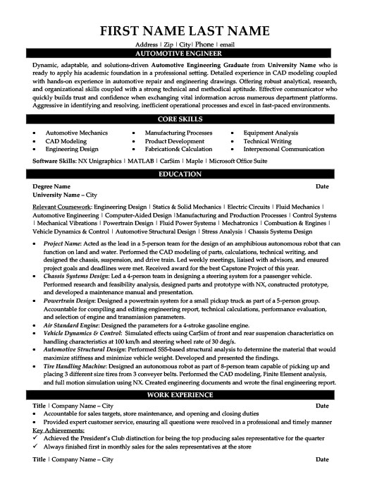 automotive engineer resume template premium samples example automobile human resources Resume Automobile Engineer Resume