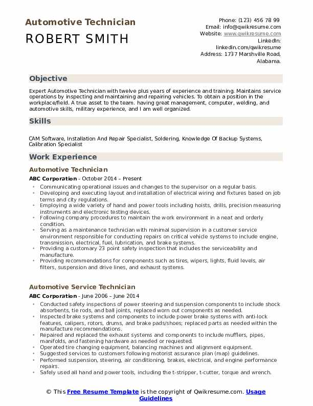 automotive technician resume samples qwikresume examples pdf after first job cctv Resume Automotive Technician Resume Examples