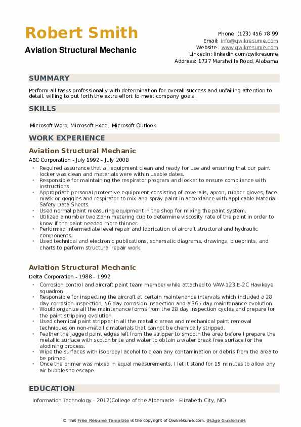 aviation structural mechanic resume samples qwikresume navy plane captain pdf label entry Resume Navy Plane Captain Resume