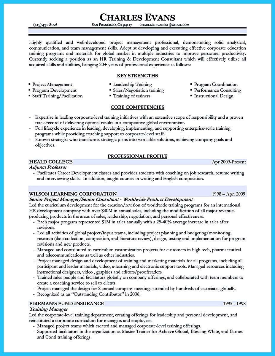 awesome brilliant corporate trainer resume samples to get job check more at http snefci Resume Resume For Trainer Position