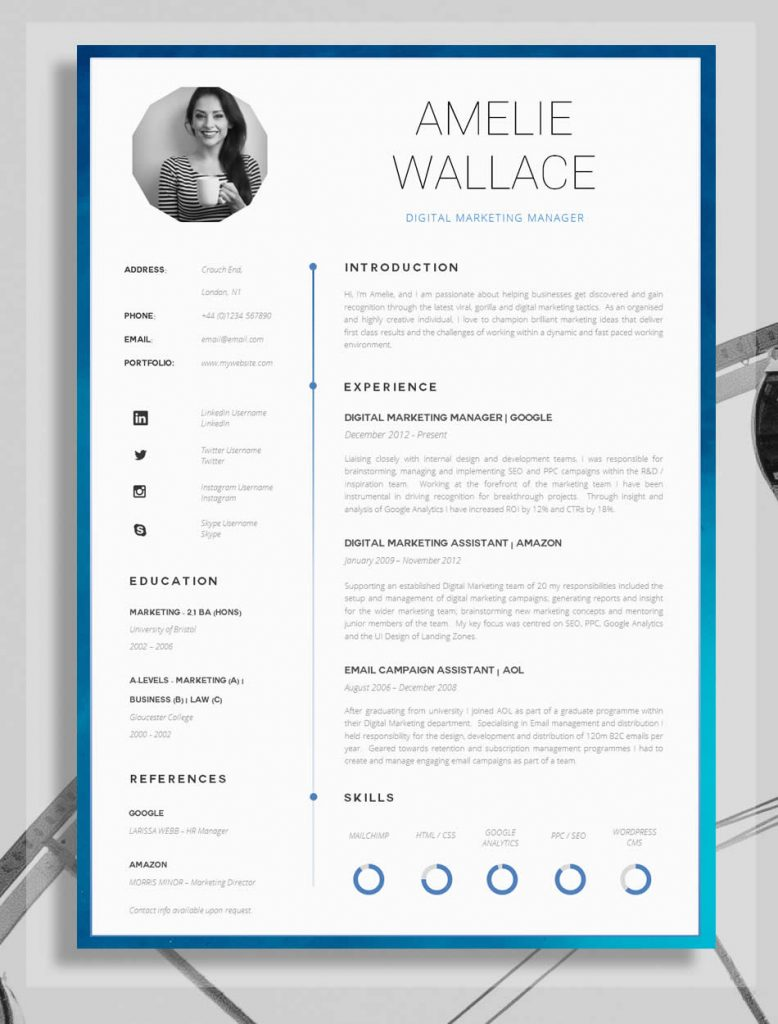 awesome examples of creative cvs resumes guru and professional resume 778x1024 hobbies Resume Creative And Professional Resume