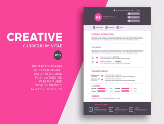 awesome illustrator resume templates with creative cv designs design intro image system Resume Resume Design Illustrator