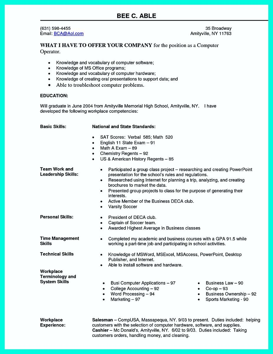 awesome the best computer science resume sample collection check more at http snefci org Resume Computer Literate Resume Sample