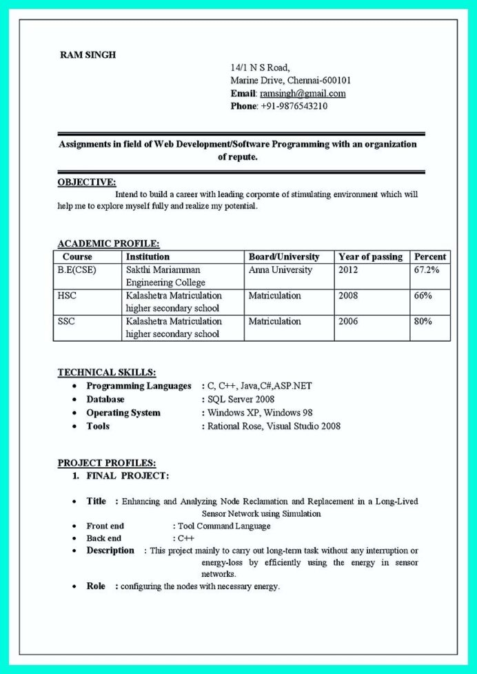 awesome the perfect computer engineering resume sample to get job soon check more at http Resume Best Resume Format For Computer Engineers