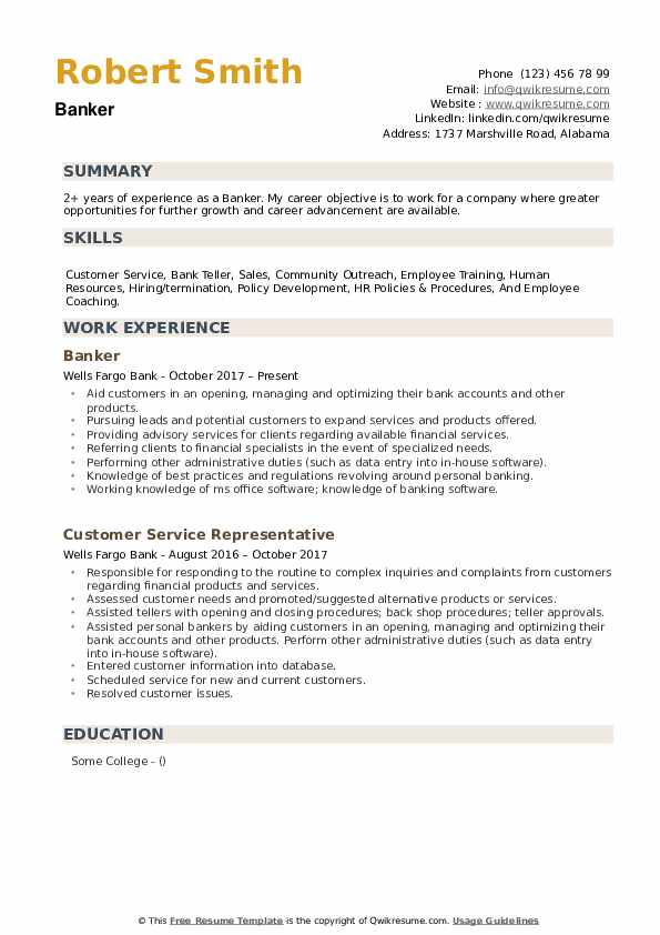 banker resume samples qwikresume universal job description for pdf personal experience Resume Universal Banker Job Description For Resume
