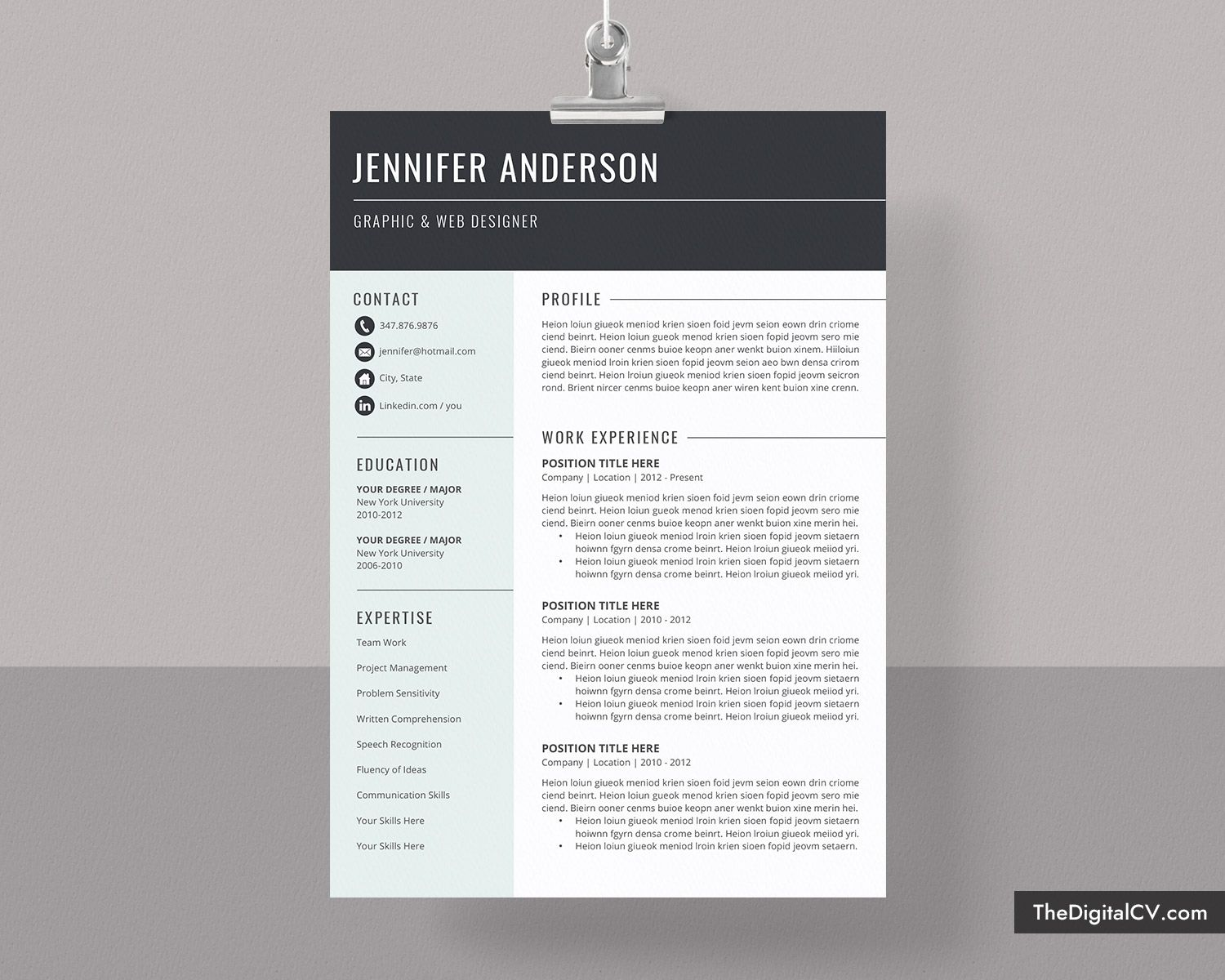 basic and simple resume template cv cover letter microsoft word free professional Resume Resume Templates For Word 2021
