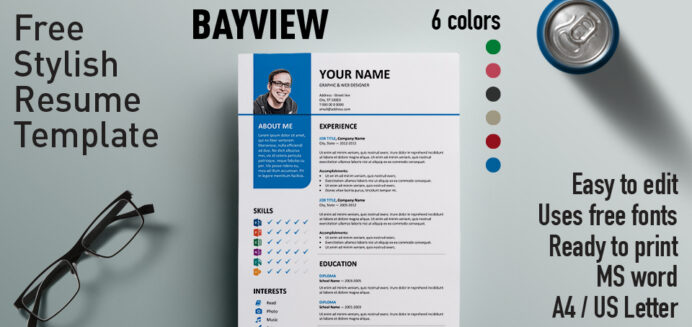 bayview stylish resume template microsoft powerpoint templates free apple specialist ssis Resume Microsoft Powerpoint Resume Templates