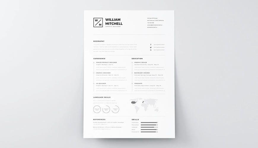 beautiful free resume templates for designers typography template best interests sample Resume Typography Resume Template