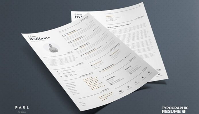 beautiful free resume templates for designers typography template sample rbt veteran Resume Typography Resume Template