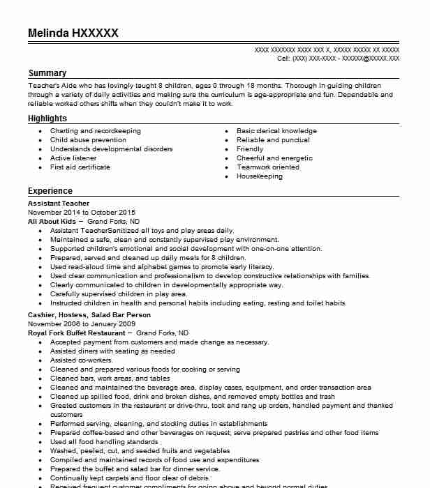 best assistant teacher resume example livecareer summary examples for good simple hobbies Resume Resume Summary Examples For Teacher Assistant