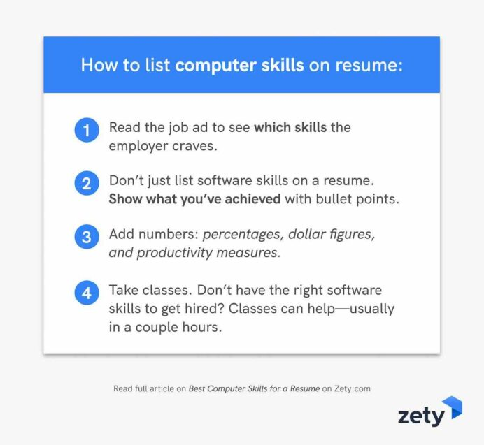 best computer skills for resume software employers good with computers on to designer Resume Good With Computers On Resume