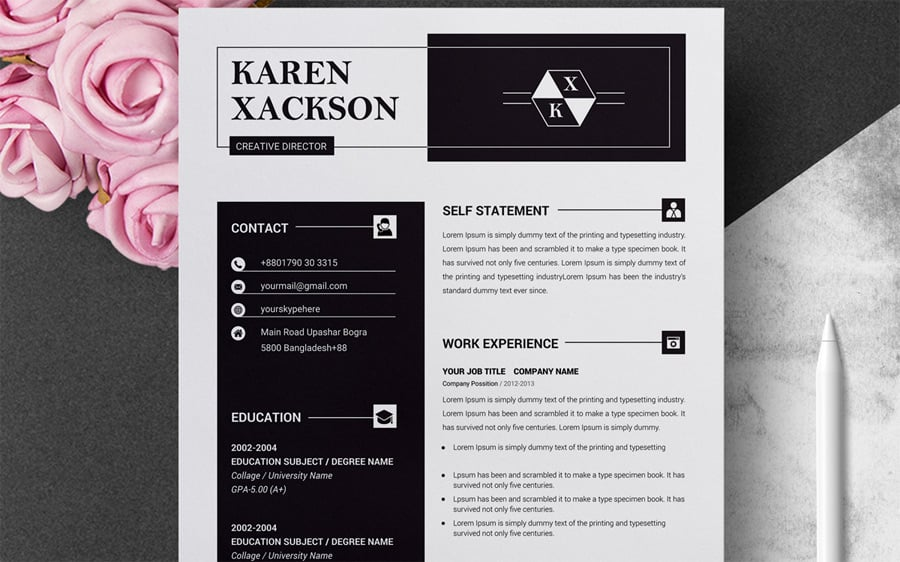 best creative resume cv templates printable professional examples clean template Resume Creative Professional Resume Examples