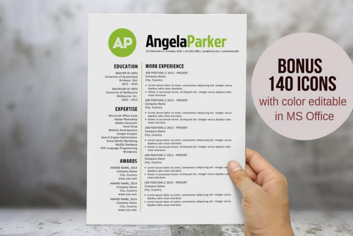 best cv resume templates design shack contemporary free word round bold initials template Resume Contemporary Resume Templates Free Word