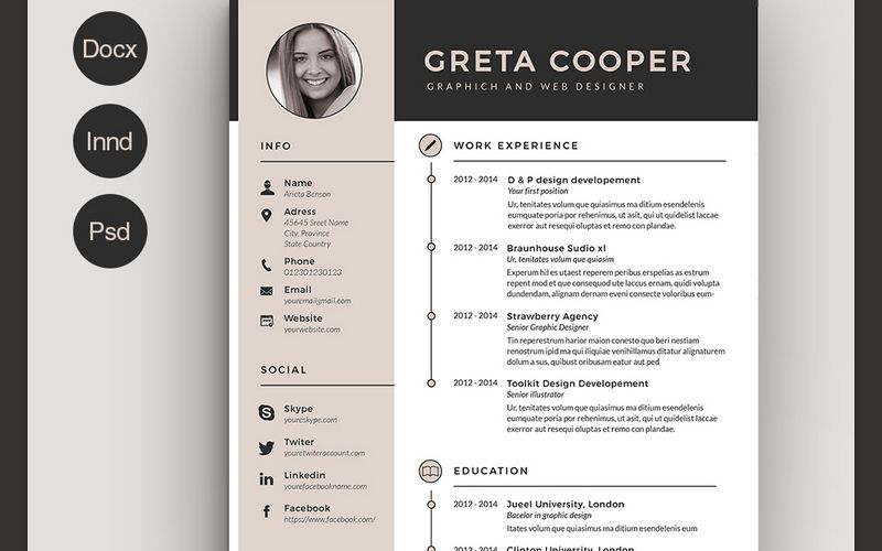 best cv resume templates indesign template creative free executive assistant examples Resume Best Free Resume Templates 2019