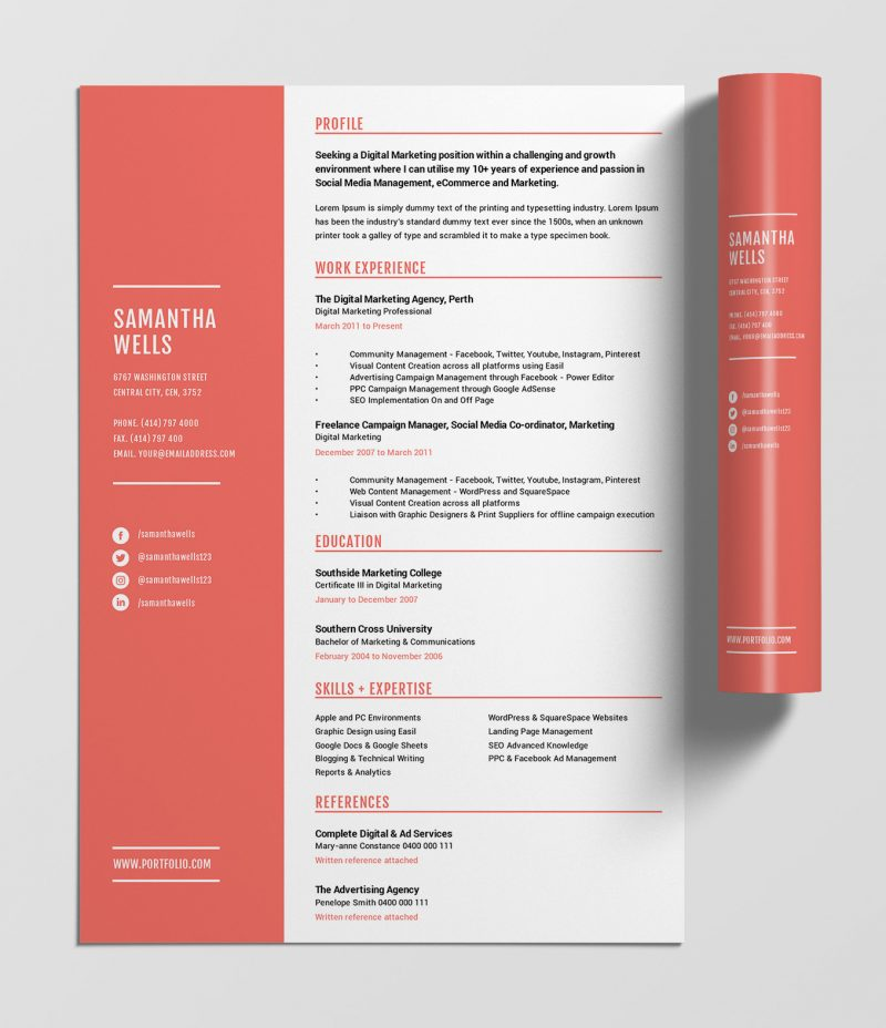 best free resume templates tips on to stand out easil eye catching coral template 800x928 Resume Eye Catching Resume Templates