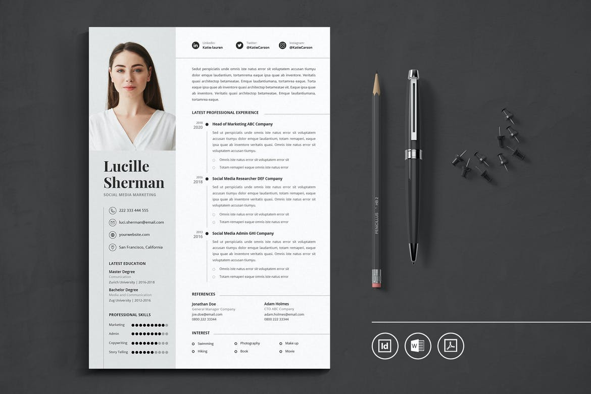 best indesign resume templates free cv theme get template front desk job duties with Resume Get Free Resume Templates