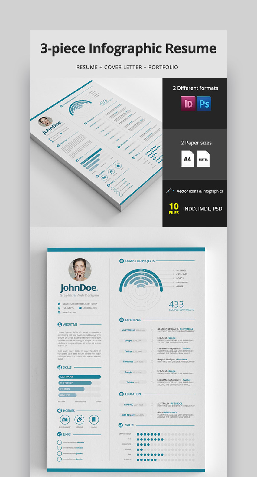 best infographic resume cv templates creative examples for timeline piece clean assistant Resume Infographic Resume Timeline