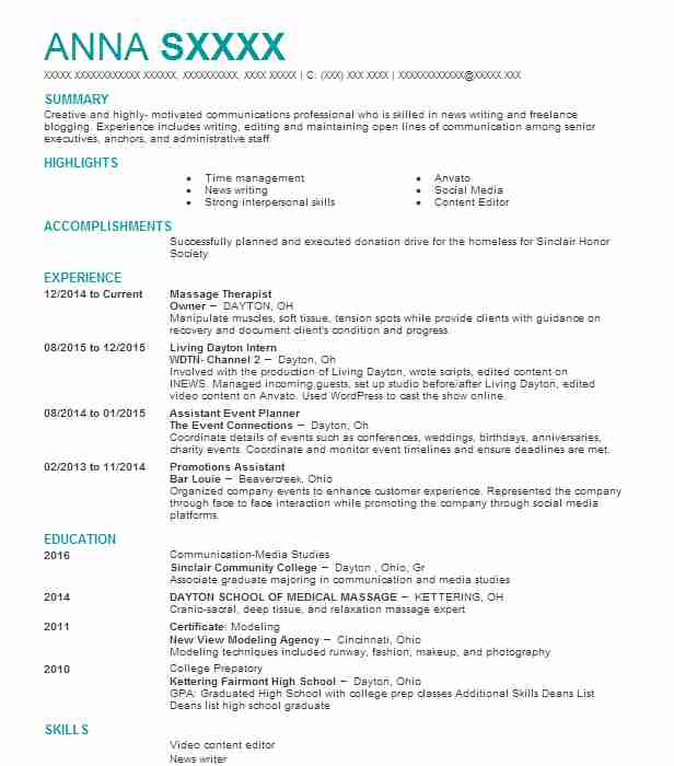 best massage therapist resume example livecareer for beginners certified public Resume Massage Therapist Resume For Beginners
