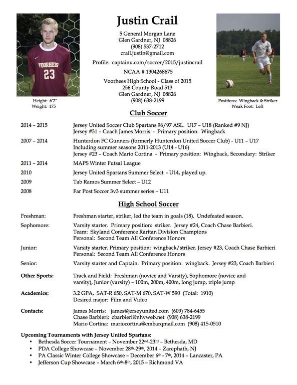 best photos of soccer player resume example football samples coach template and coaching Resume Football Player Resume Sample