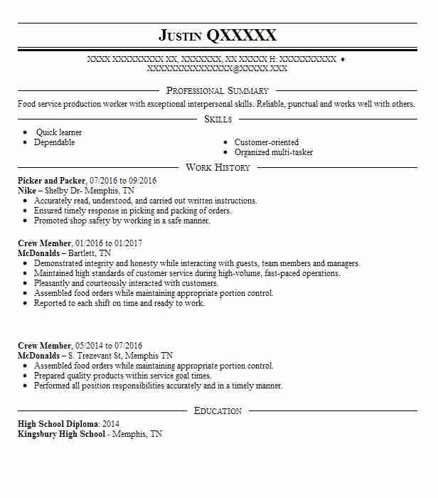 best picker and packer resume example livecareer job description for format university Resume Picker Packer Job Description For Resume