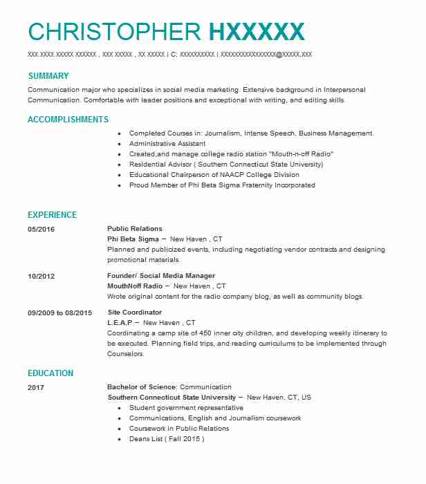 best public relations resume example livecareer student behavioral therapist client Resume Public Relations Student Resume