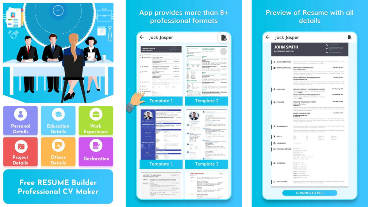 best resume builder apps for android authority free full version screenshot 1200x675 Resume Free Resume Builder Download Full Version