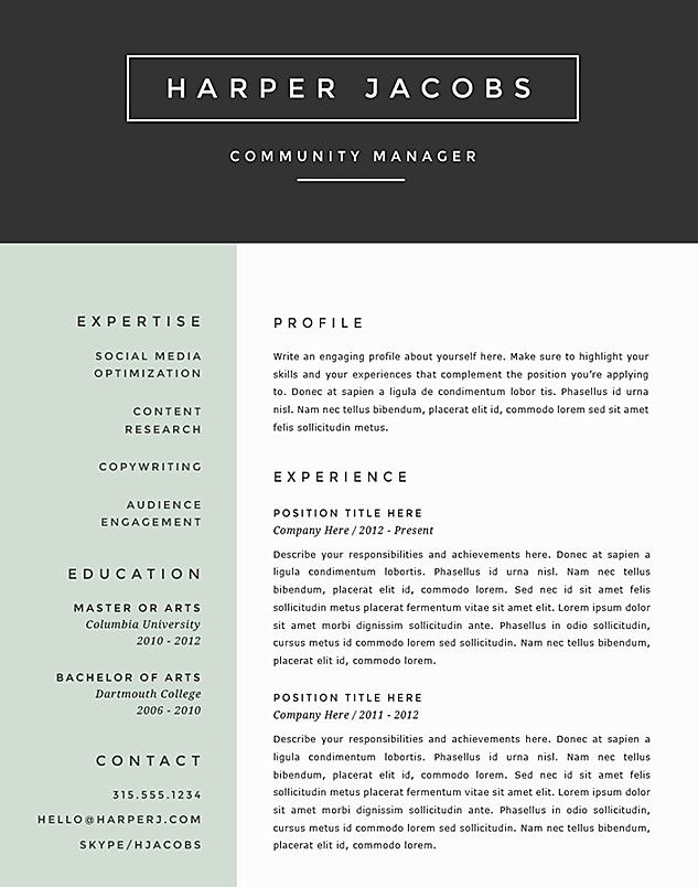 best resume format google search job examples the muse templates dishwasher experience Resume The Muse Resume Templates