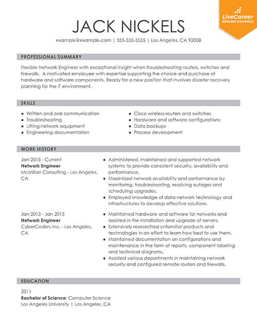 best resume formats of livecareer example latest functional thumb talend developer Resume Example Of Latest Resume