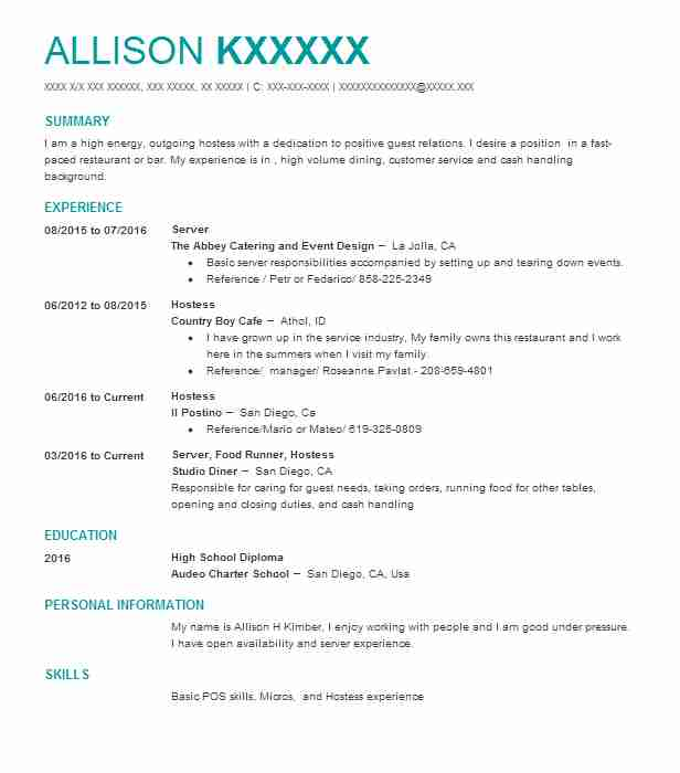 best server resume example livecareer job description for on recent high school graduate Resume Job Description For A Server On A Resume