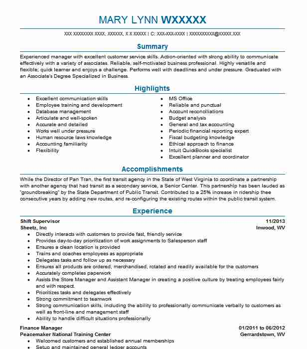 best shift supervisor resume example livecareer melissa and cover letter services toronto Resume Shift Supervisor Resume