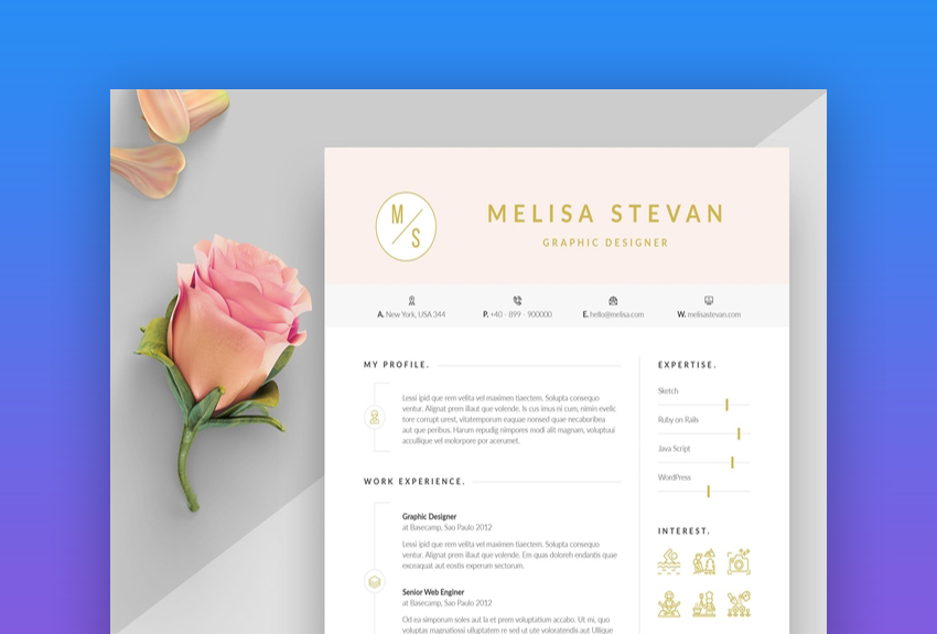 best web graphic designer resume cv templates examples for design envato expected Resume Graphic Design Resume 2019