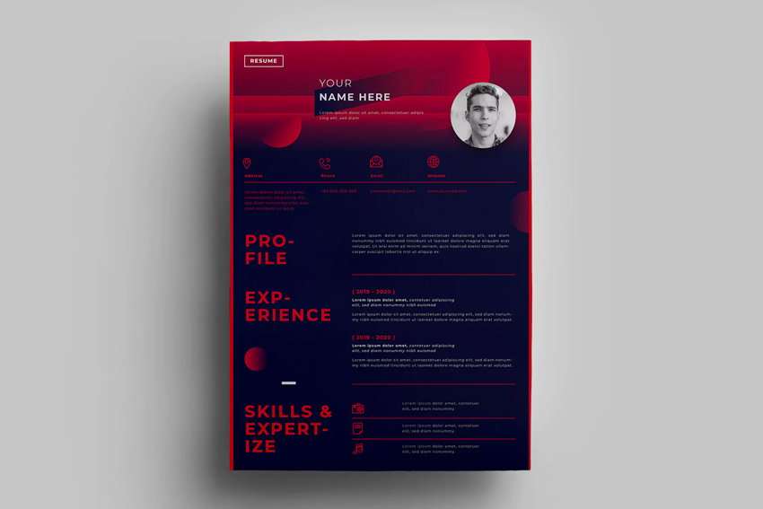 best web graphic designer resume cv templates examples for design on envato elements Resume Graphic Design Resume 2019