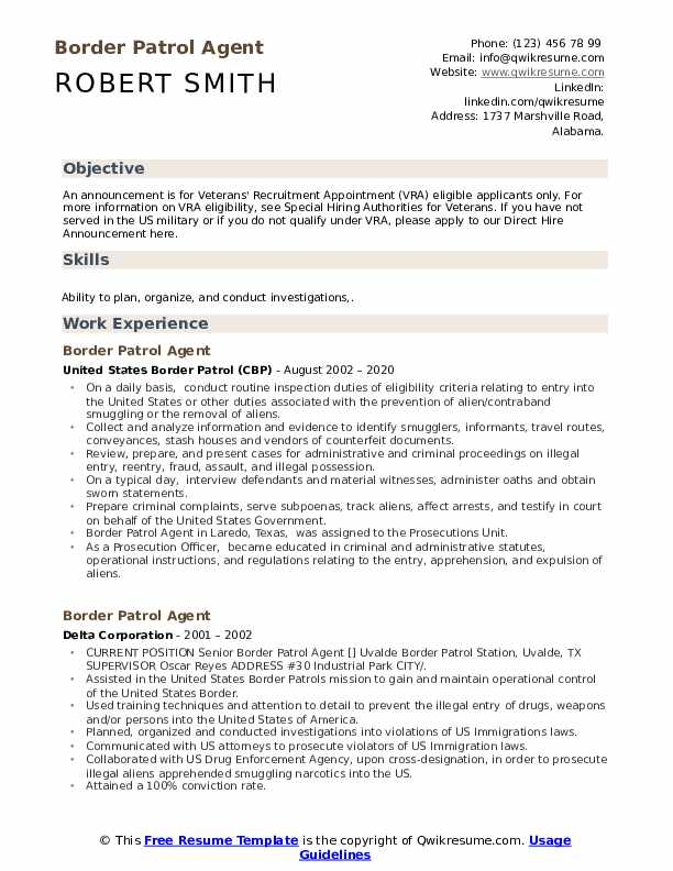 border patrol agent resume samples qwikresume template pdf another word for team player Resume Border Patrol Resume Template