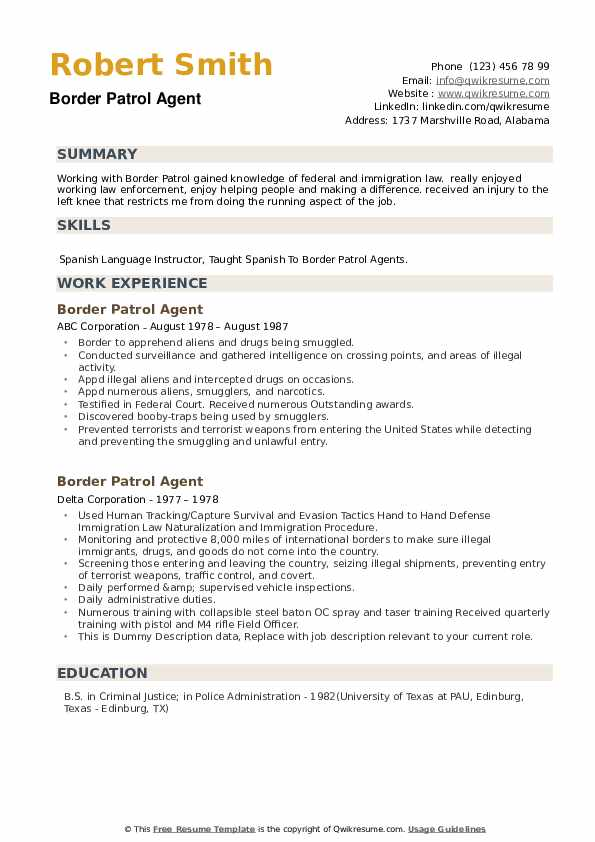 border patrol agent resume samples qwikresume template pdf bank manager sample another Resume Border Patrol Resume Template