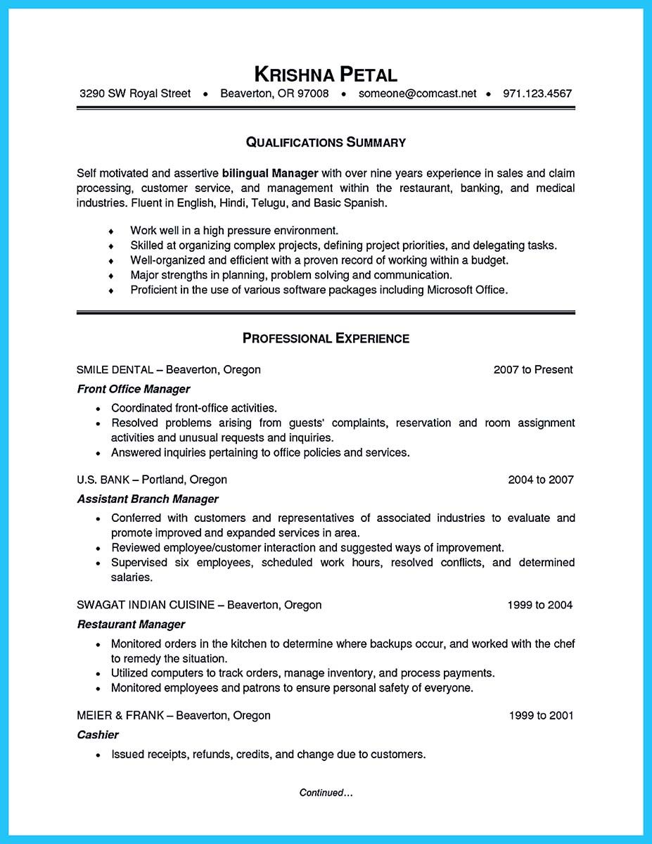breathtaking facts about bilingual resume you must know manager skills objective school Resume Bilingual Resume Objective