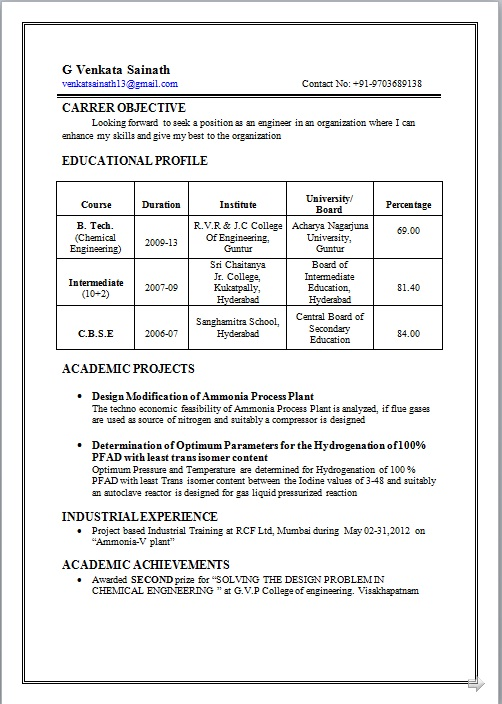 bsc microbiology resume format for freshers chemistry fresher sample great objective line Resume Bsc Chemistry Fresher Resume Sample