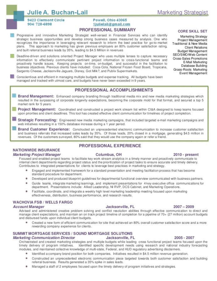 buchan lail marketing strategist resume package brand career change ats approved strong Resume Marketing Strategist Resume Sample