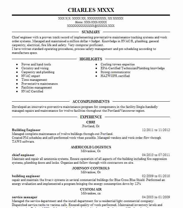 building engineer resume example engineering resumes livecareer reconciliation analyst Resume Building Engineer Resume
