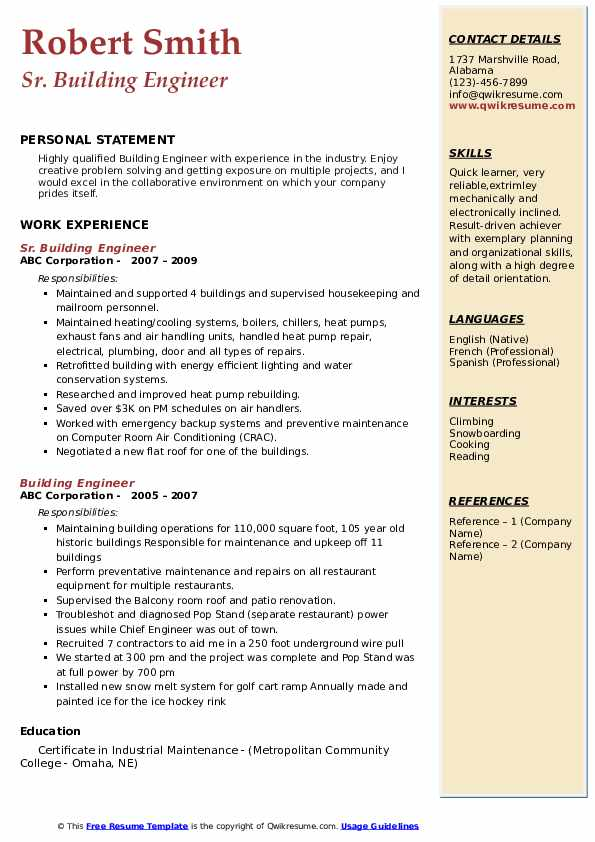 building engineer resume samples qwikresume pdf example of software entry level paralegal Resume Building Engineer Resume