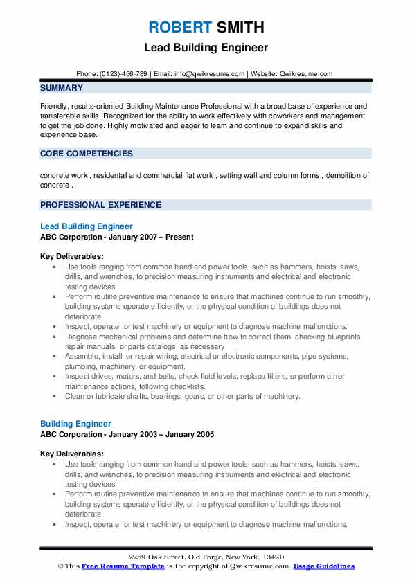 building engineer resume samples qwikresume pdf interior design project manager leather Resume Building Engineer Resume