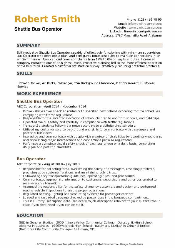 bus operator resume samples qwikresume for driver position pdf professional template word Resume Resume For Bus Driver Position